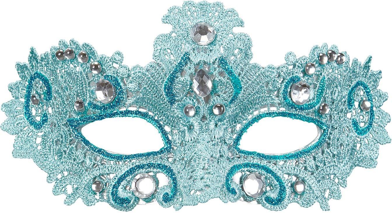 Venetiaans oogmasker blauw