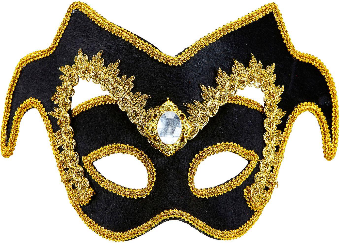 Venetiaanse edelman oogmasker met juweel