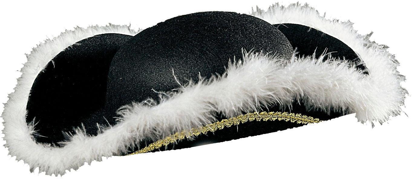 Venetiaanse tricorn hoed met marabou