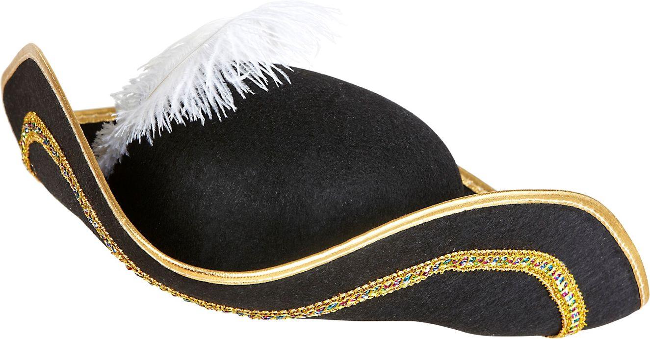 Venetiaanse tricorn hoed met veer