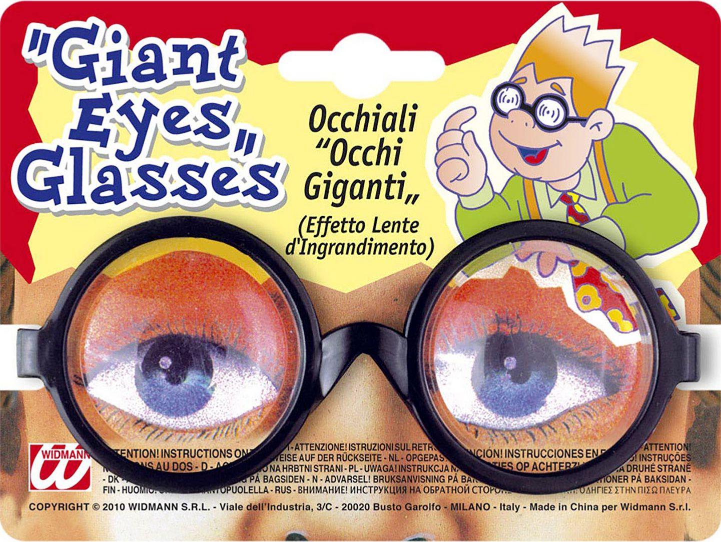 Vergrotende ogen bril