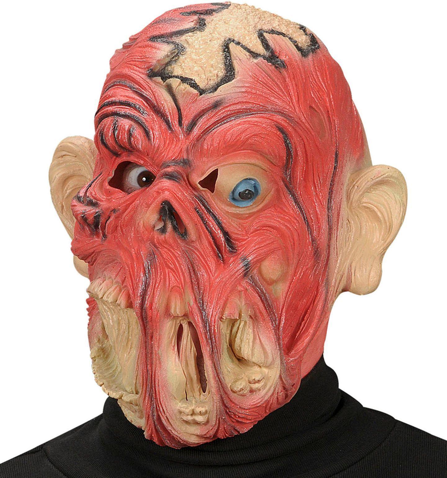 Zwart spook gezicht masker voor volwassenen: Maskers,en