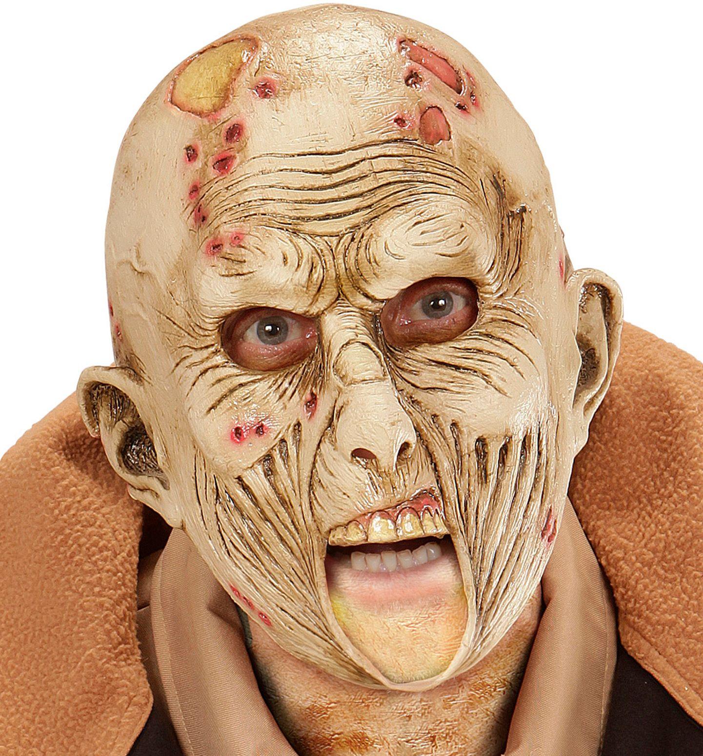 Versmolten gezicht zombie masker