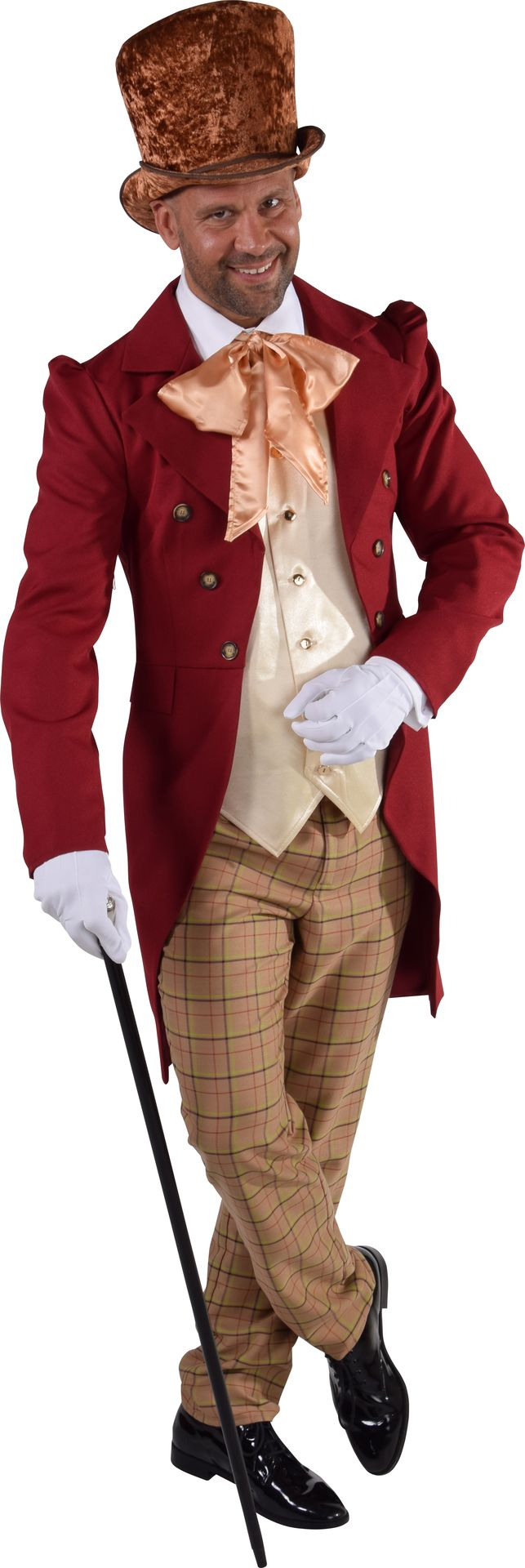 Victoriaans mannen pak rood
