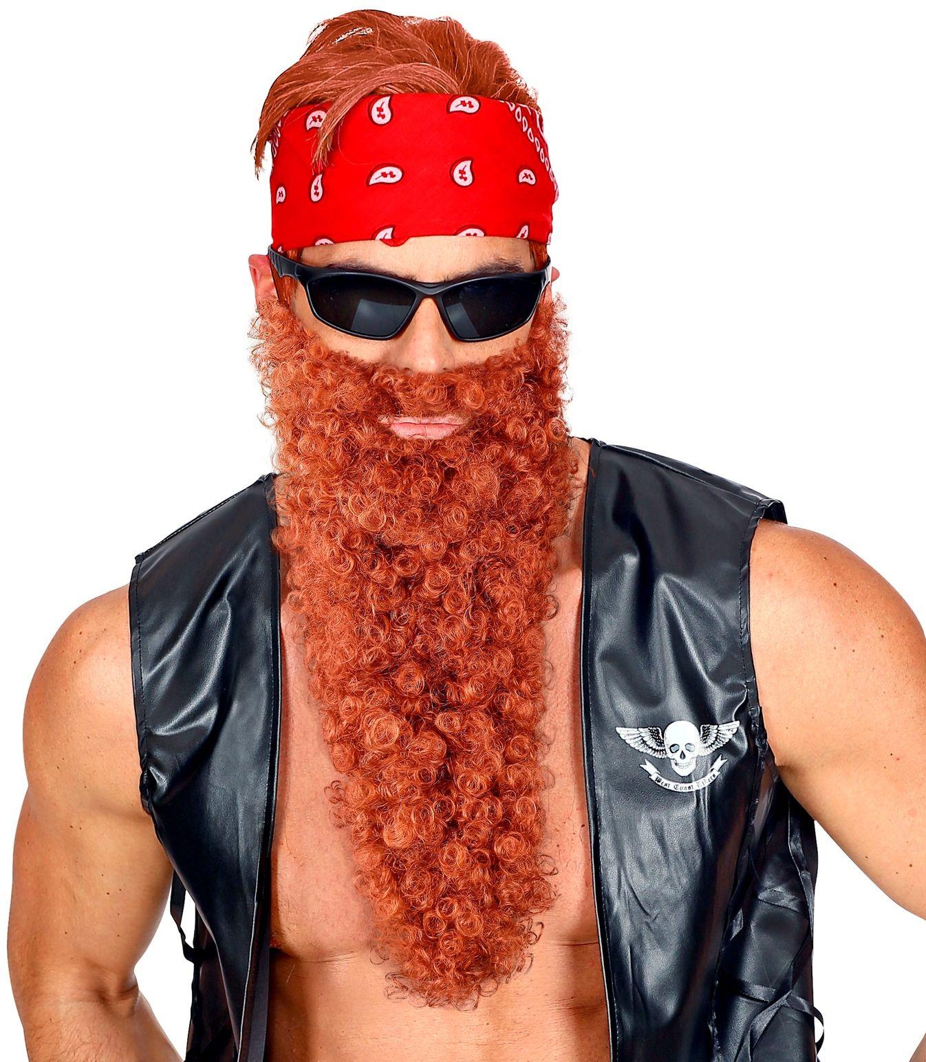 Viking baard met snor bruin