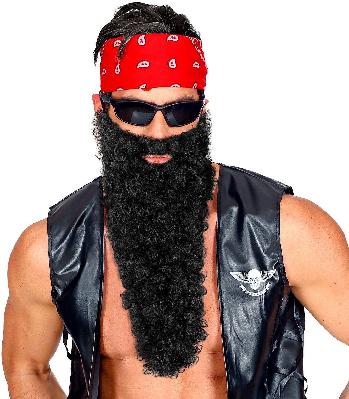 Viking baard met snor zwart