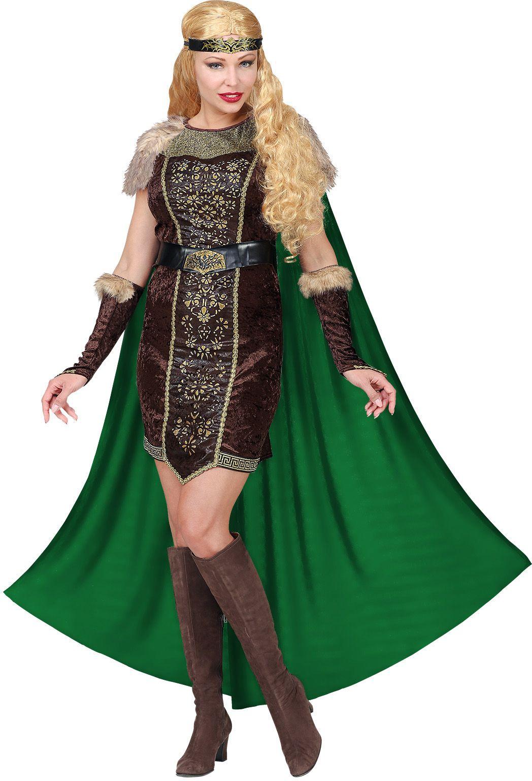 Viking jurk met cape vrouwen