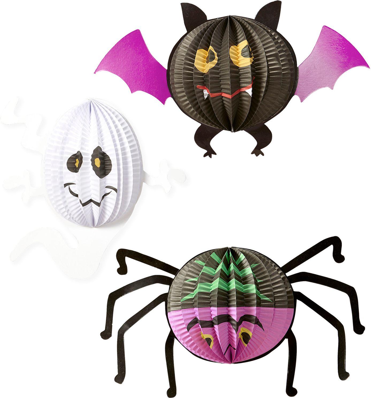 Vleermuis, spook en spin halloween decoratie