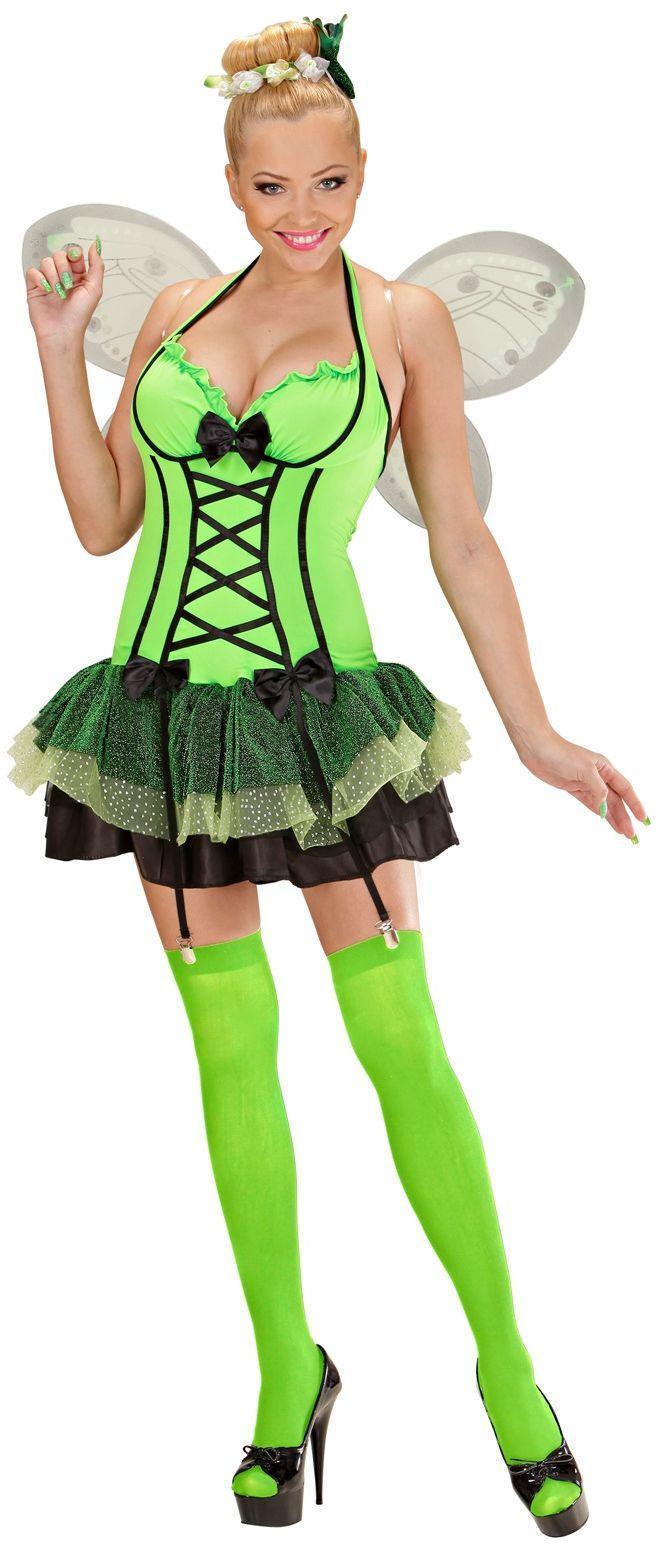 Vlinder jurk groen