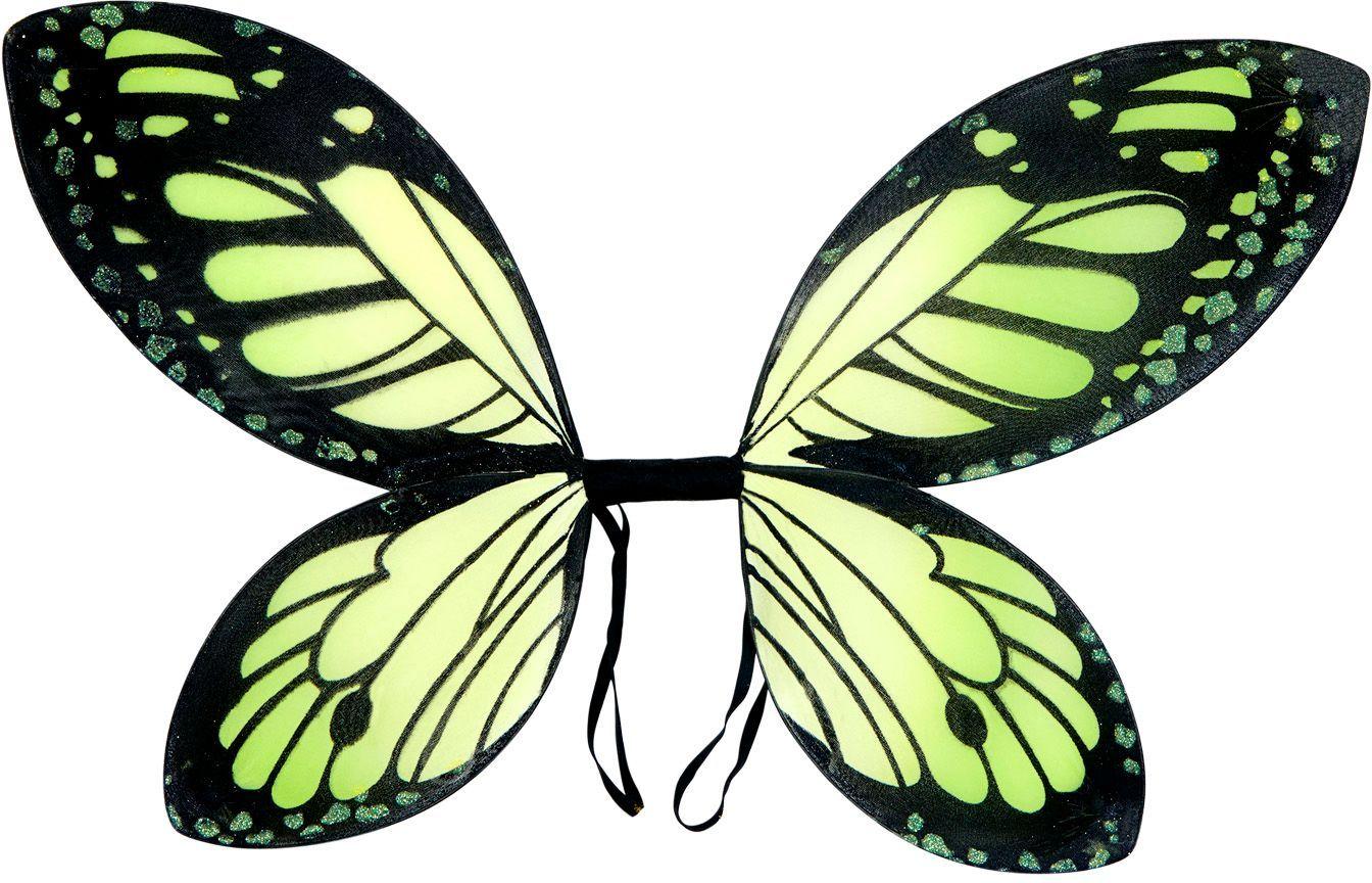 Vlinder vleugels kind zwart groen