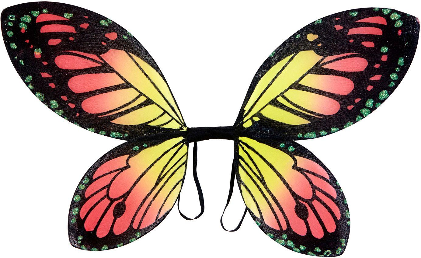 Vlinder vleugels kind zwart oranje geel