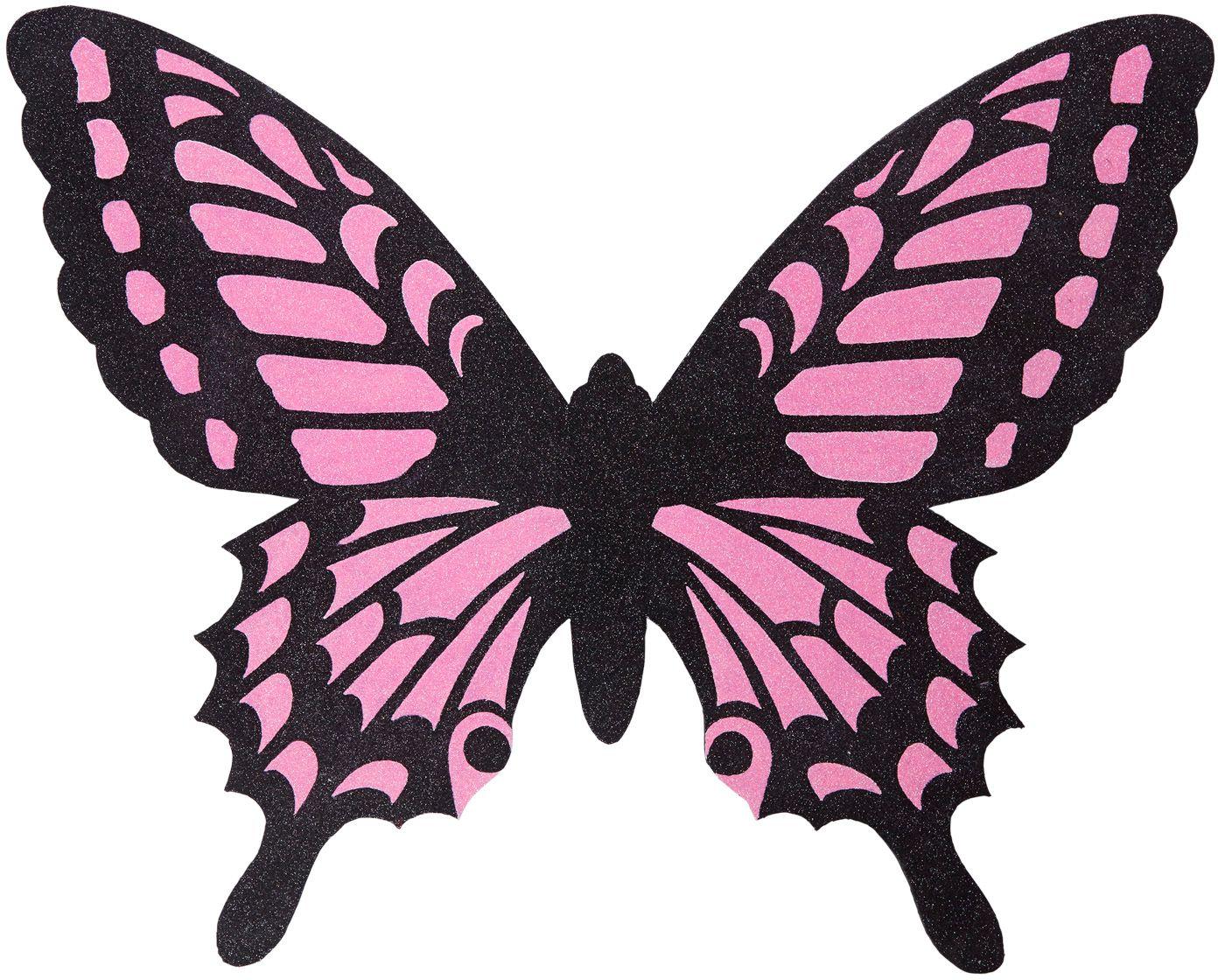 Vlinder vleugels zwart roze