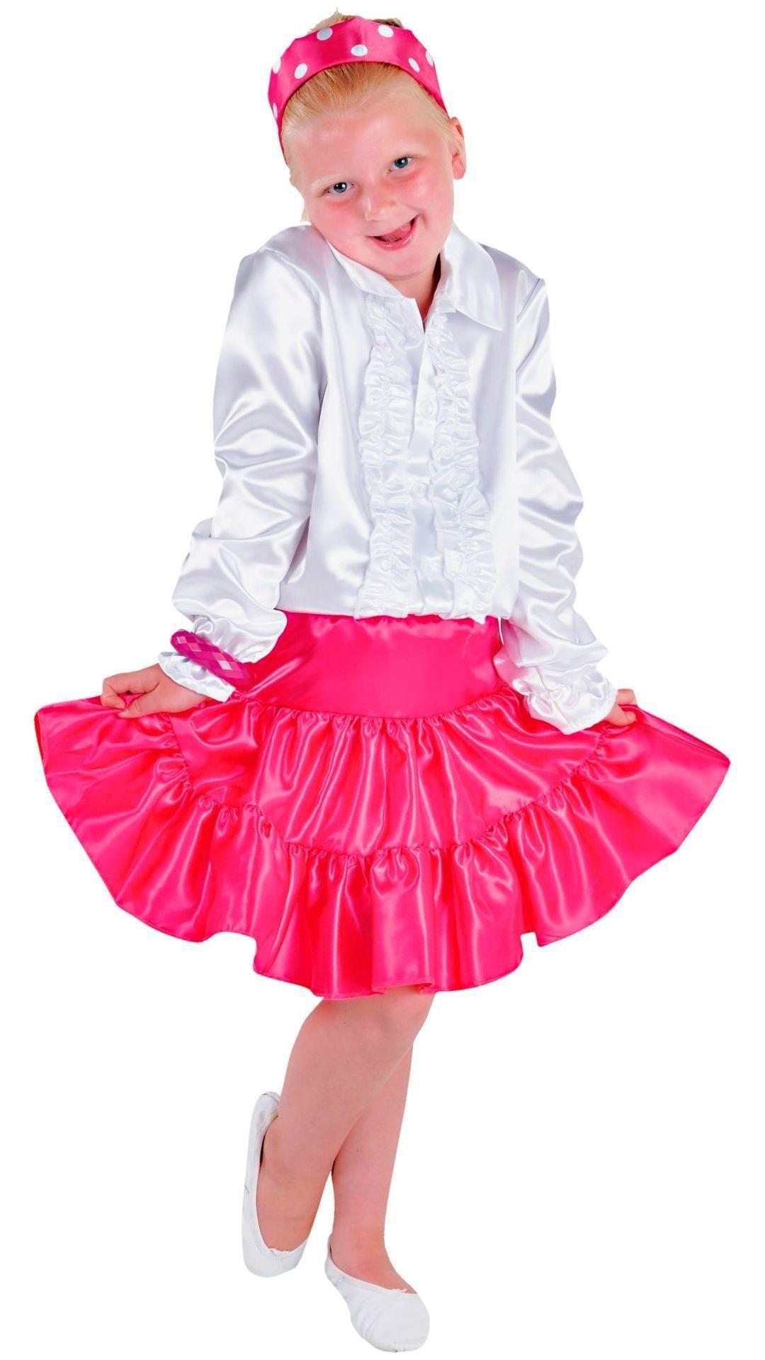 Volangen rok roze meisjes