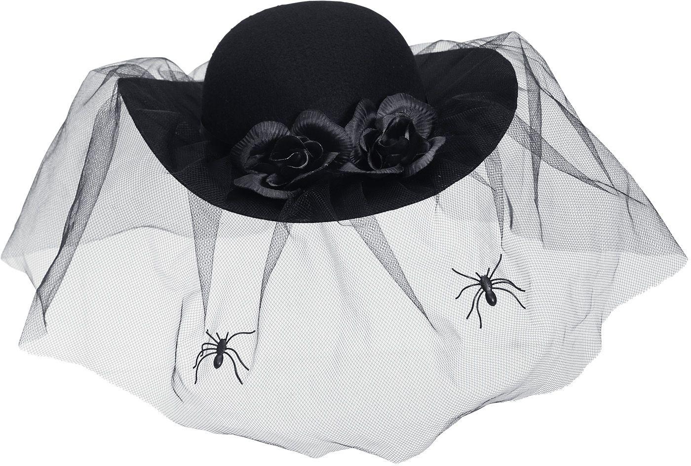 Vrouwen hoed zwarte weduwe