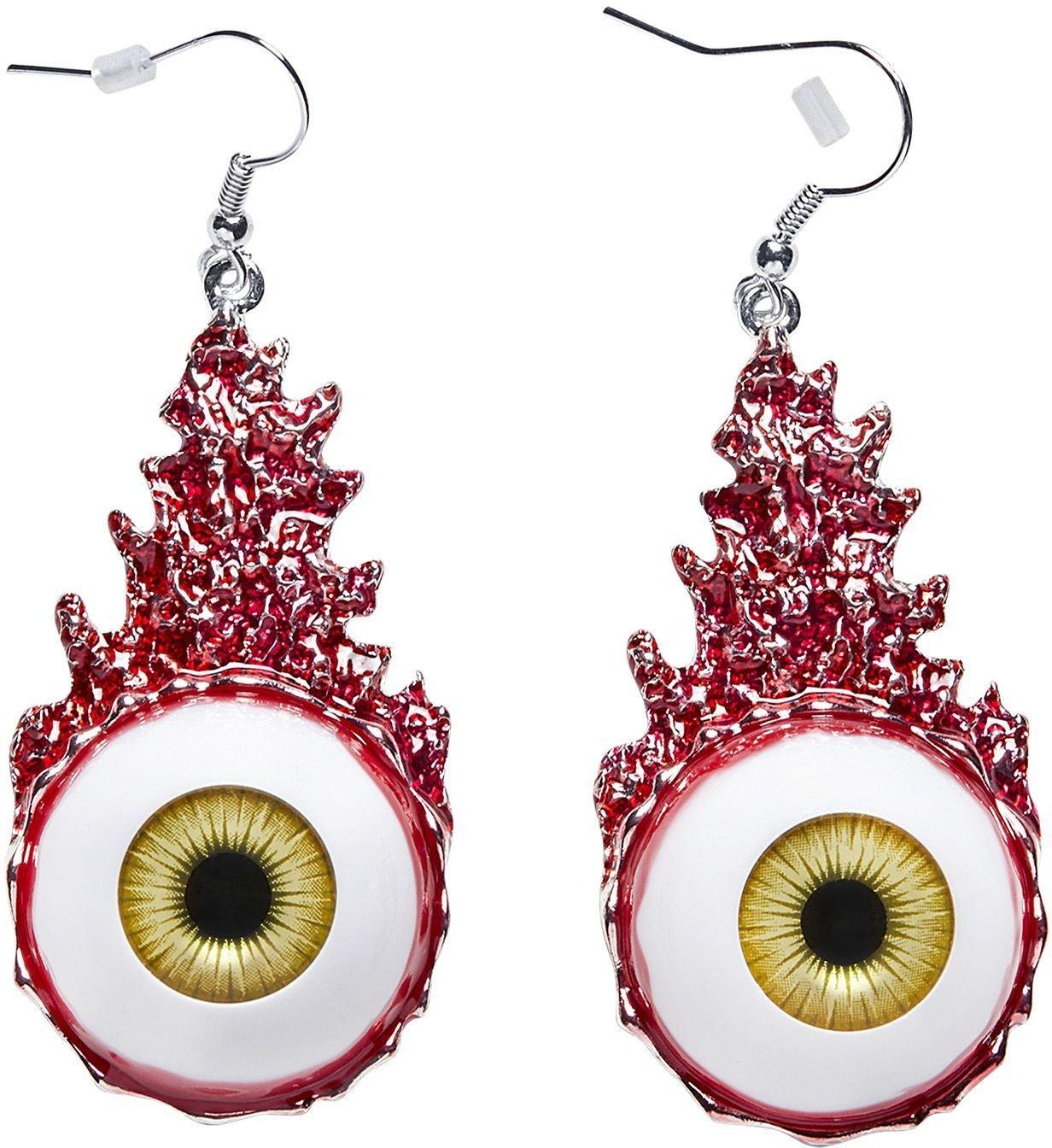 Vrouwen oorbellen ogen bloed