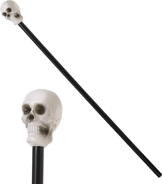 Wandelstok met schedel