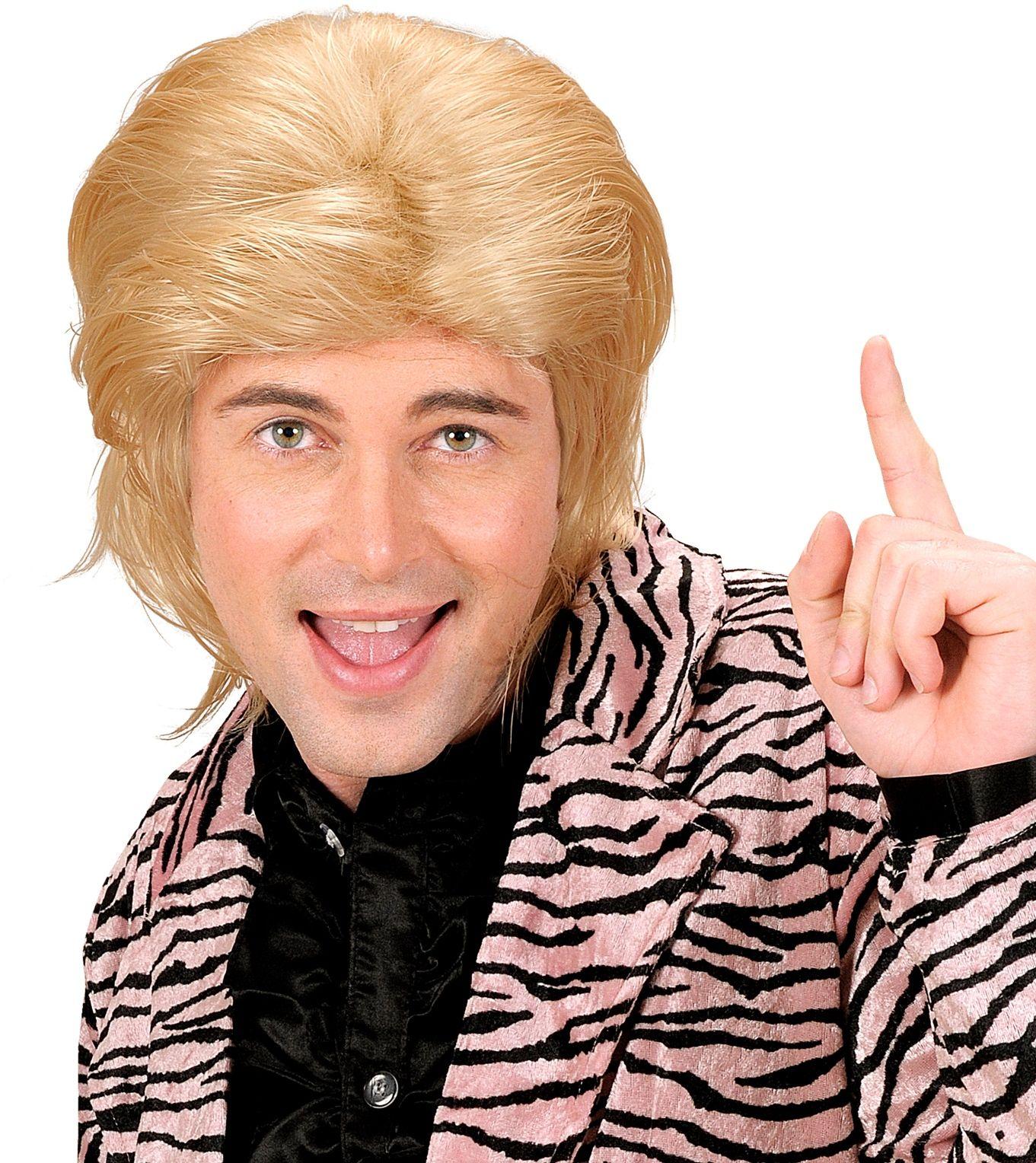 Wetlook pruik lang haar blond