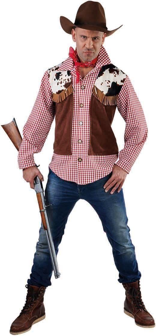 Wild west blouse met vest heren