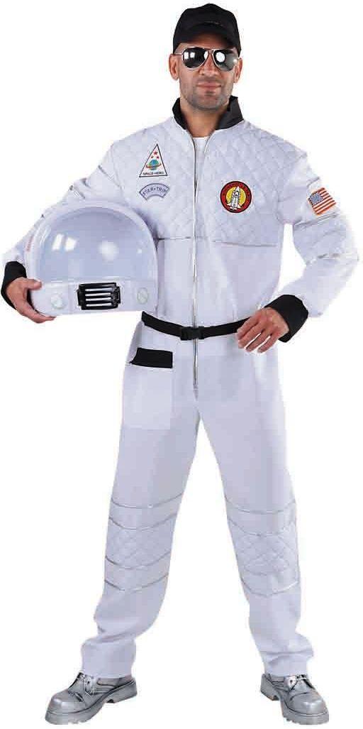 Wit astronaut kostuum heren