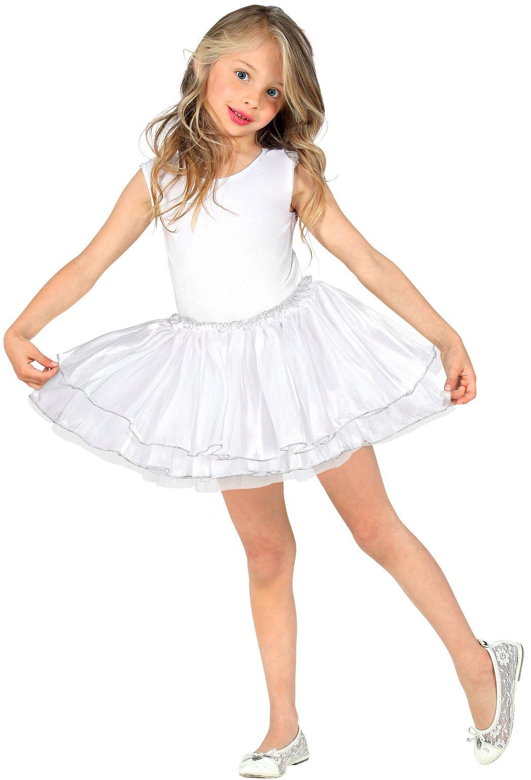 Wit ballerina rokje meisjes
