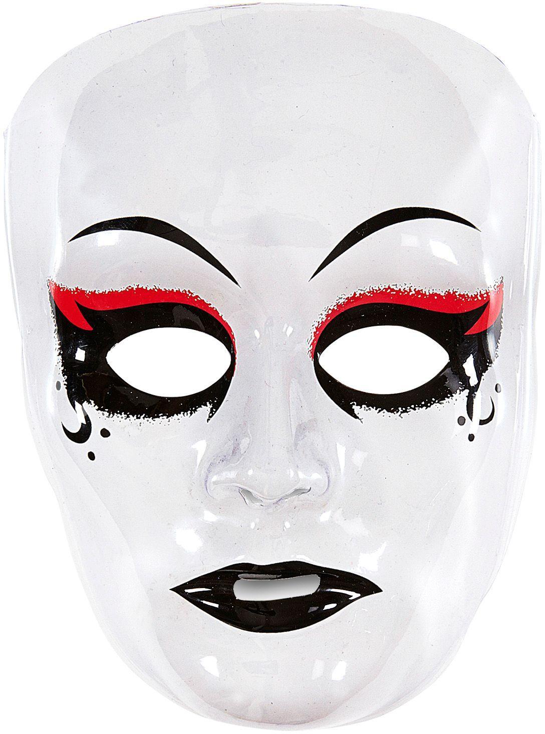 Wit gothic masker