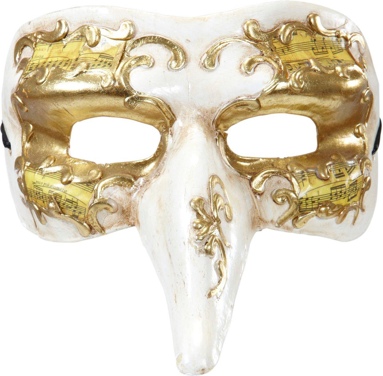 Wit gouden nasone oogmasker