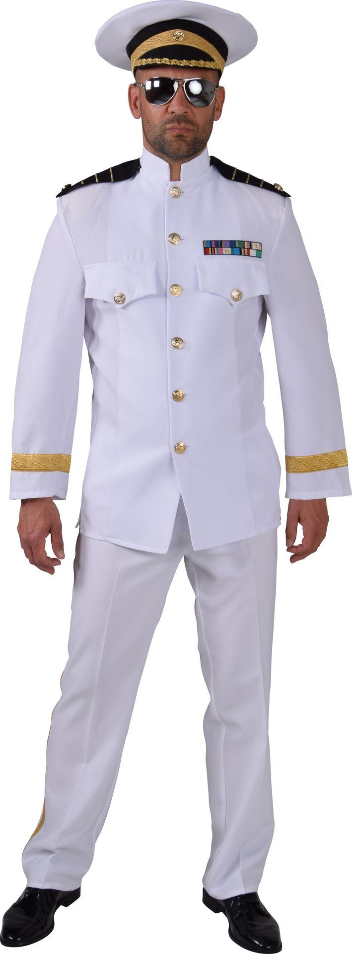 Wit kapiteins pak mannen