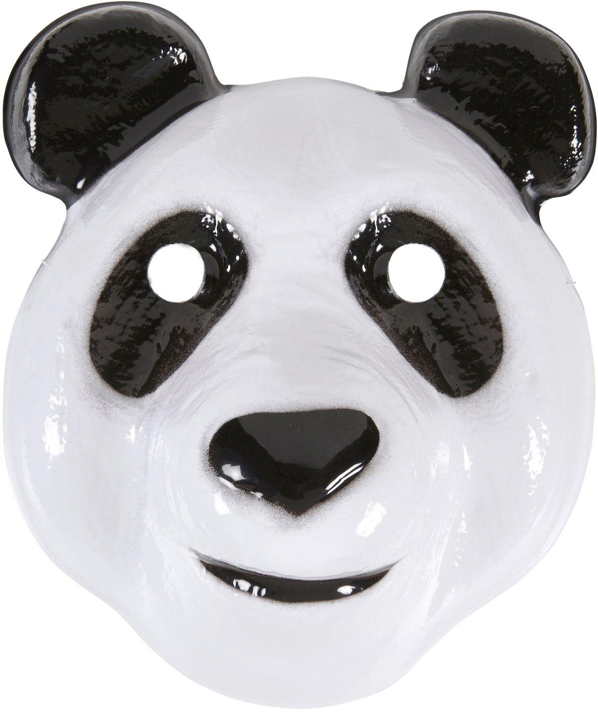 Wit panda masker