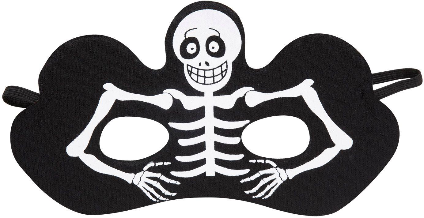 Wit skelet oogmasker