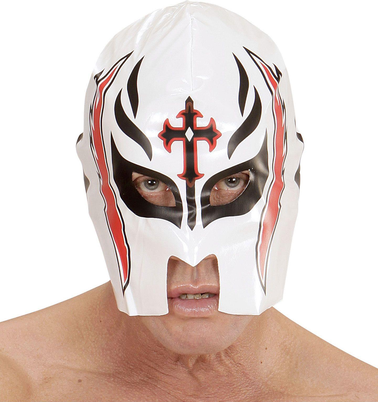 Wit worstelaars masker