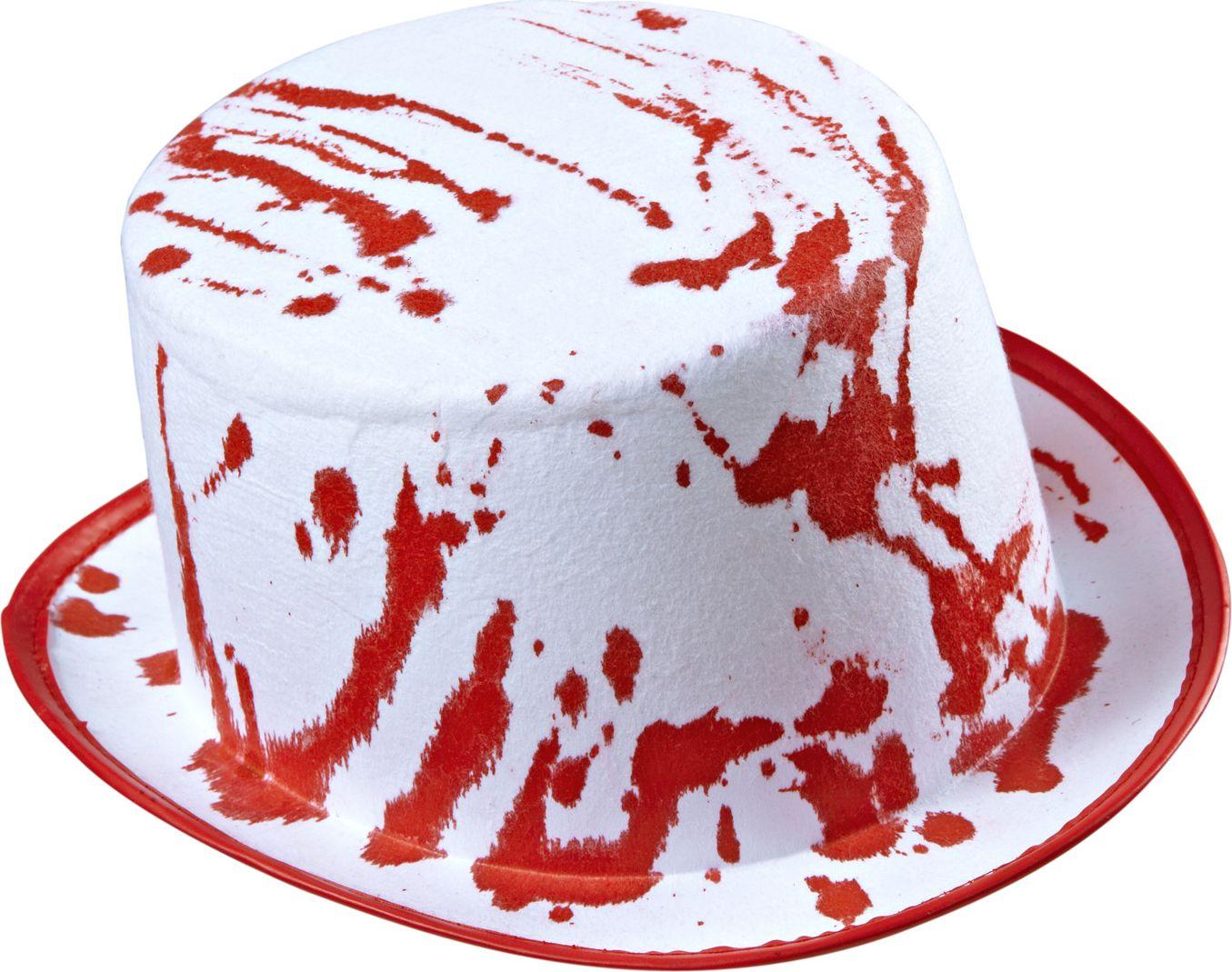 Witte bloederige hoge hoed