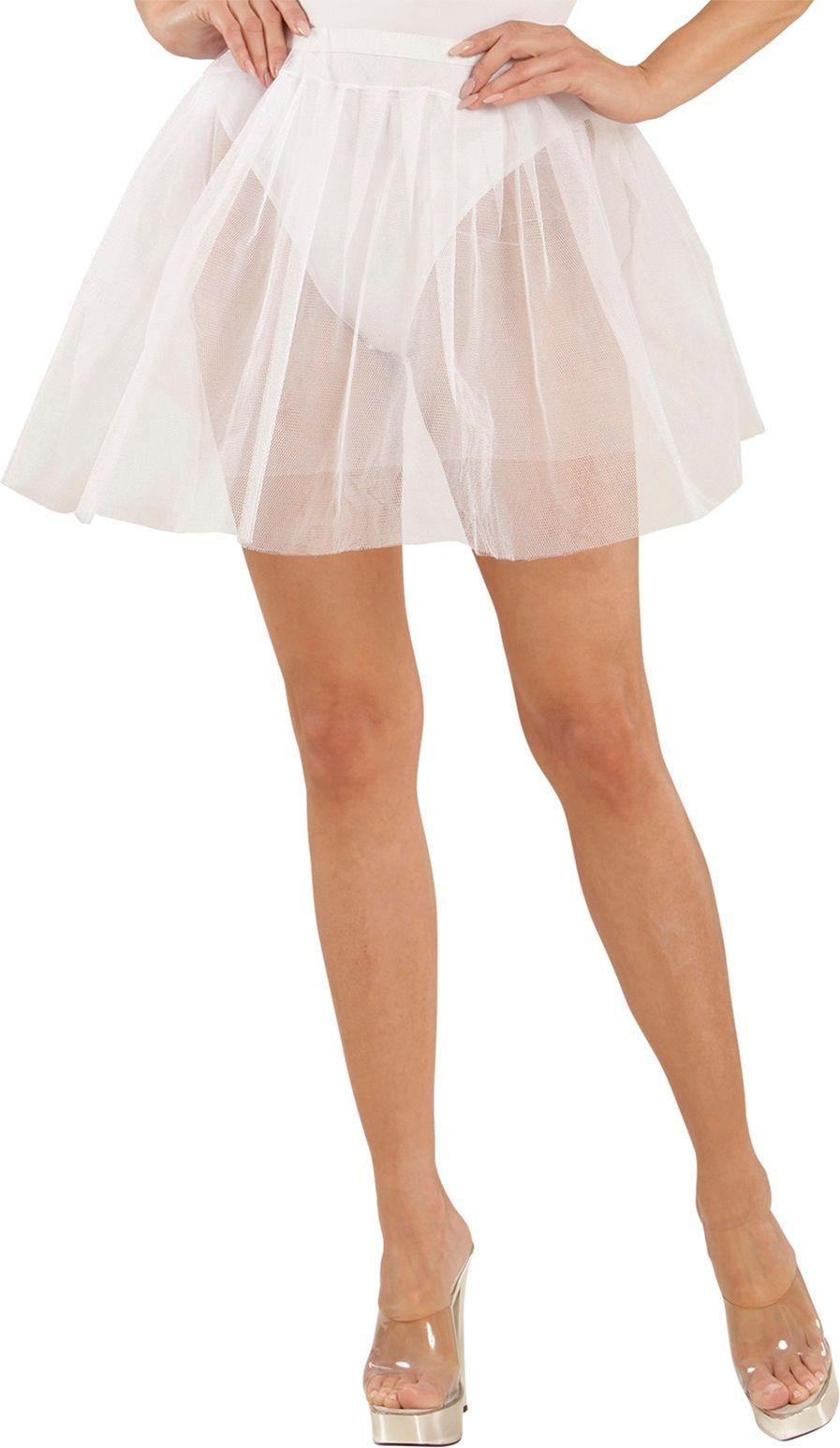 Witte danseres petticoat One-size-volwassenen
