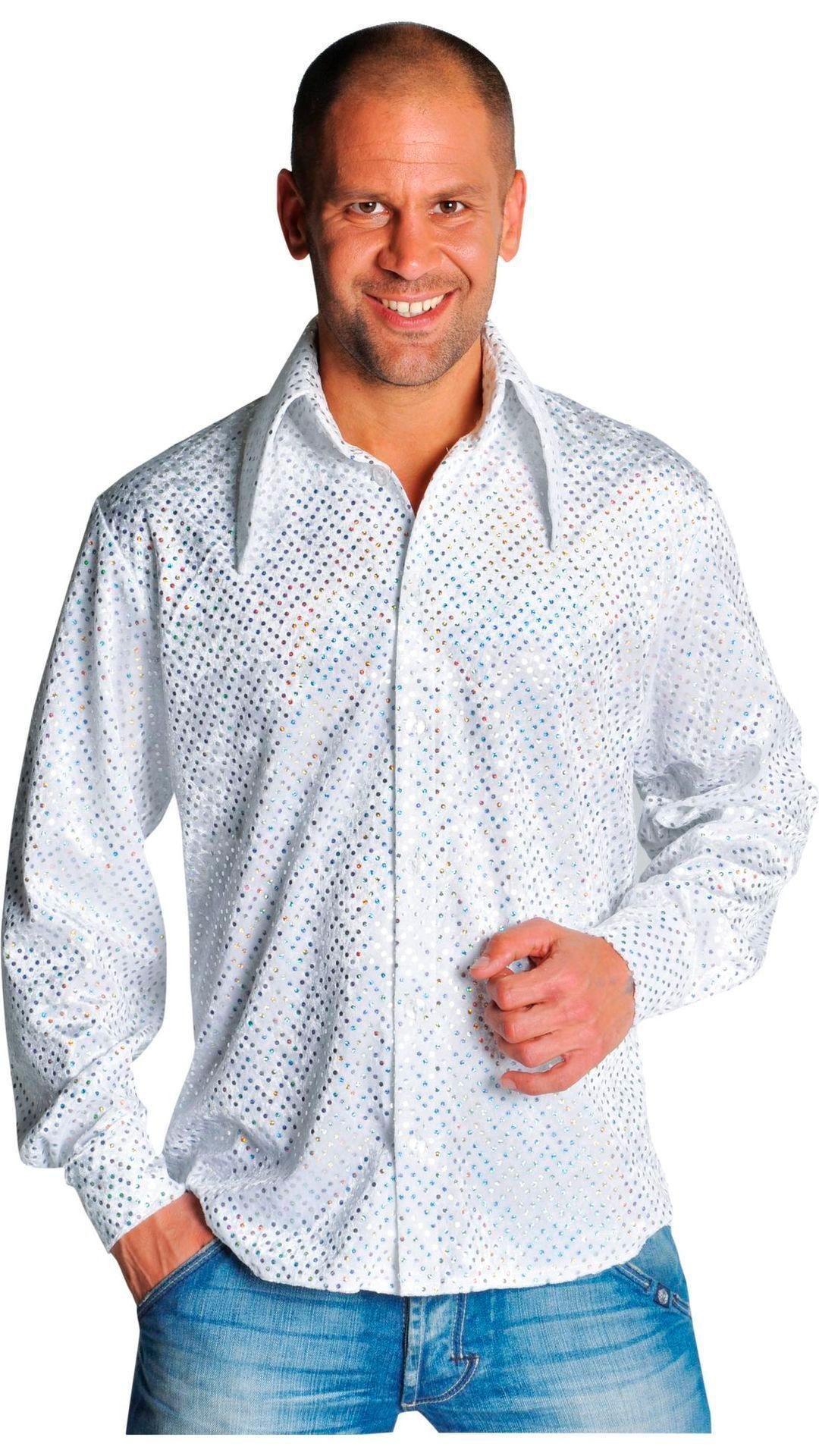 Witte disco blouse mannen