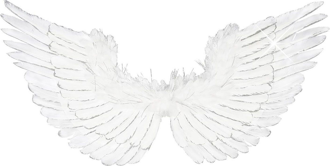 Witte engel vleugels met glitter