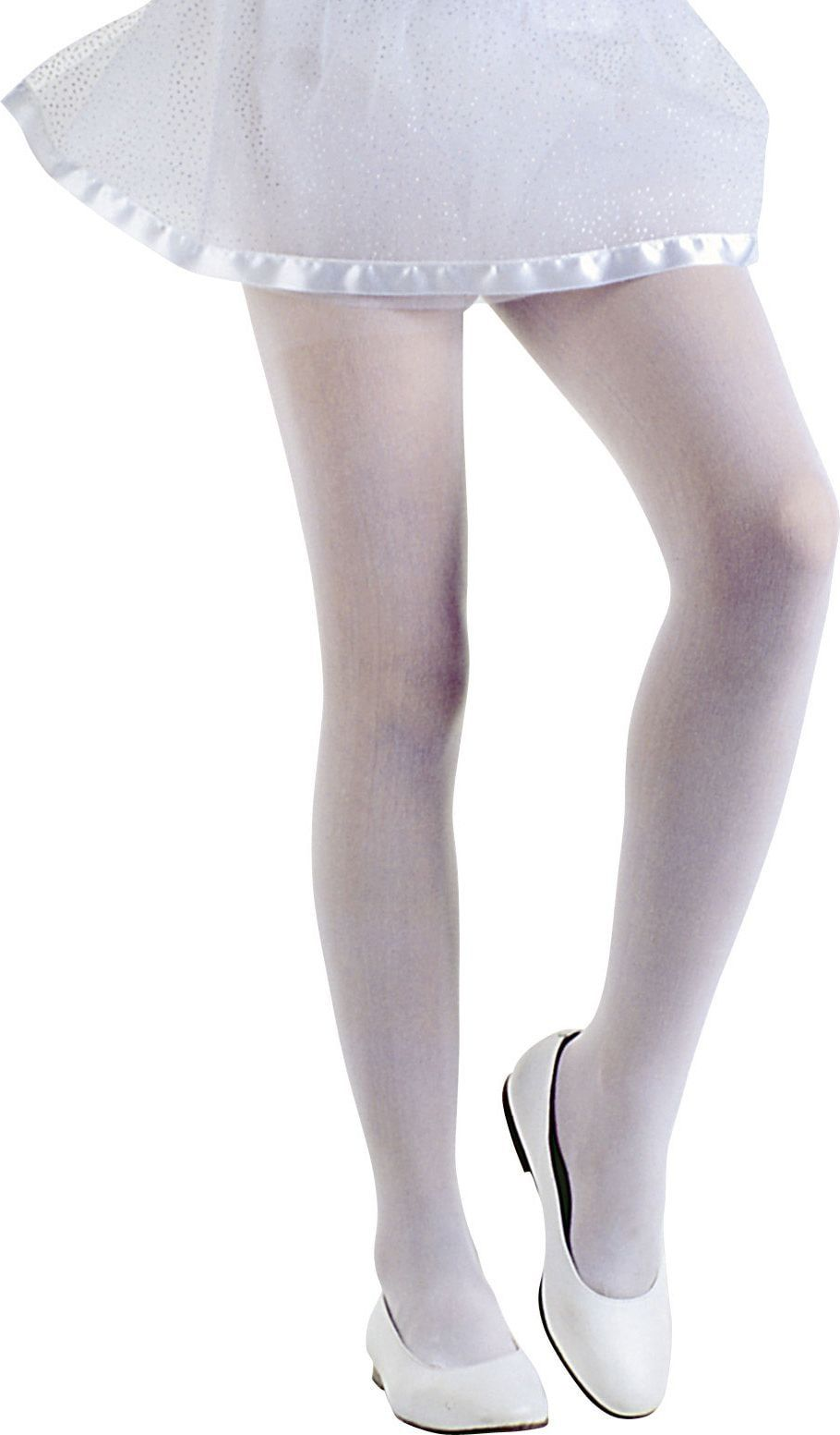 Witte glamour kinderpanty