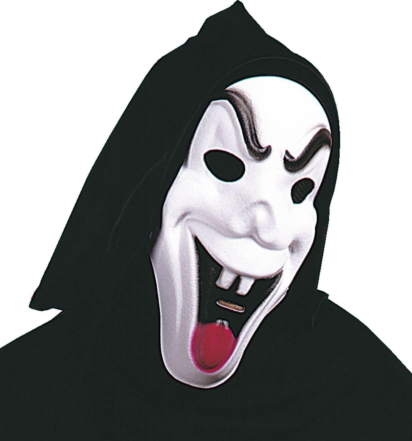 Witte grappige spook masker