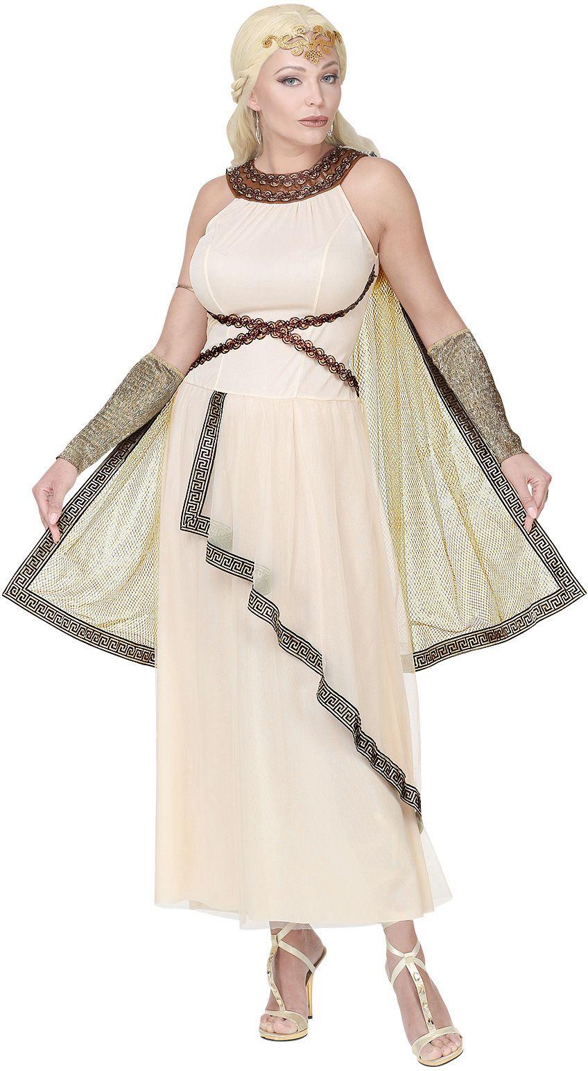 Witte jurk Romeinse godin