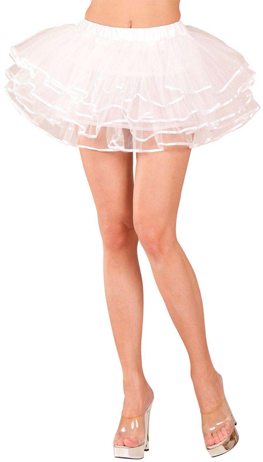 Witte luxe ballerina rokje