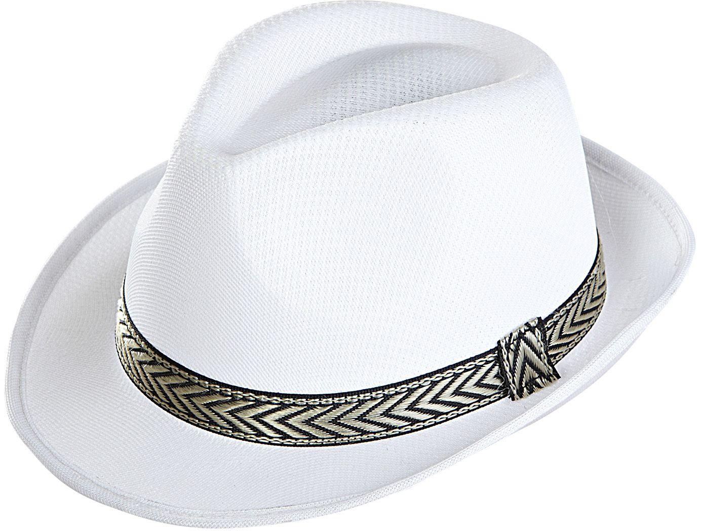 Witte panama hoed