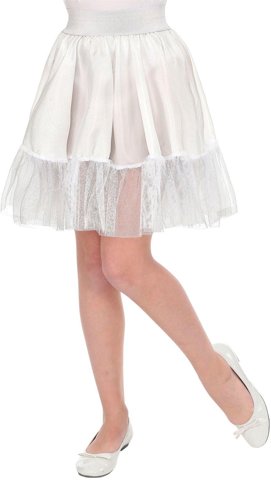 Witte petticoat rok meisjes