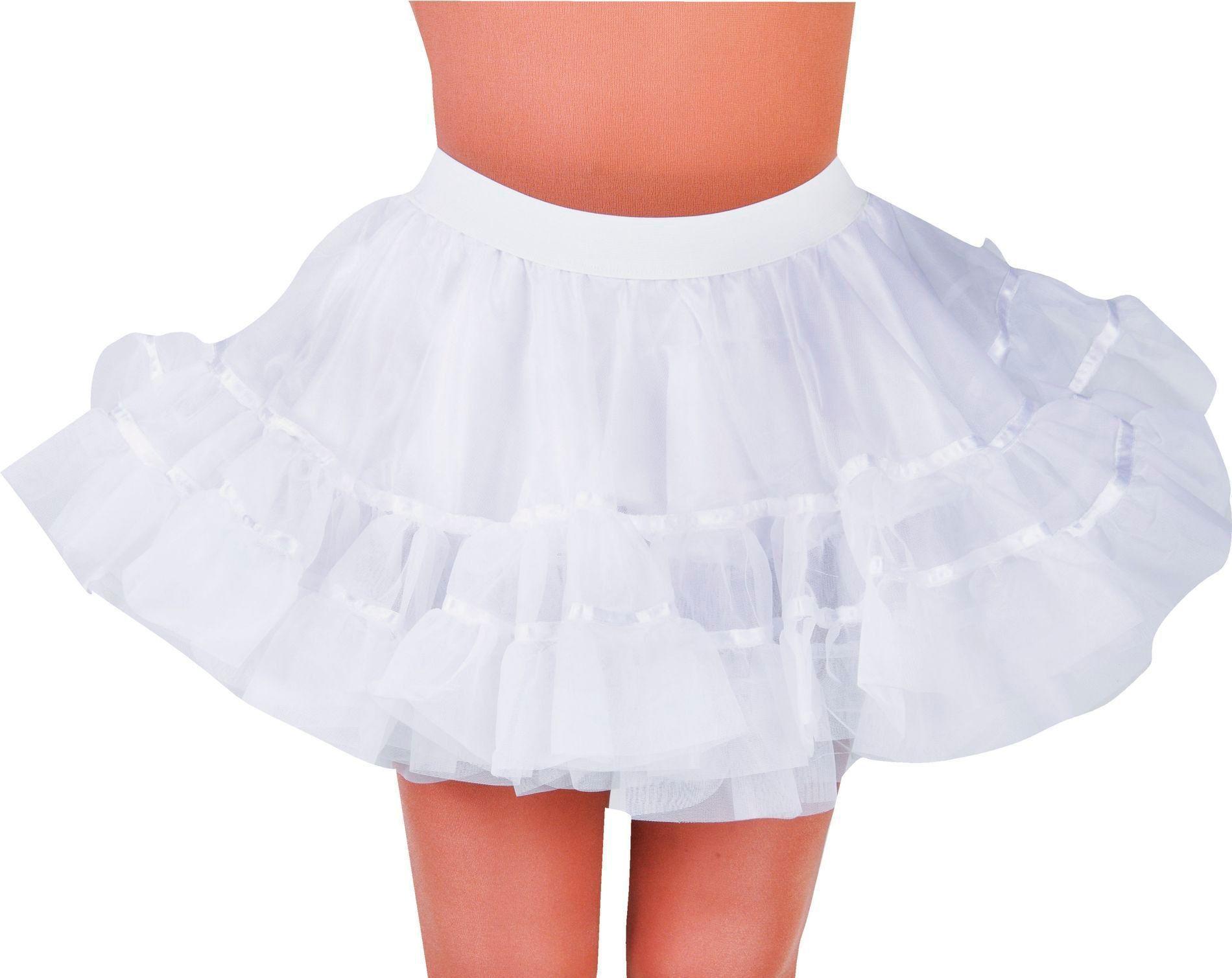 Witte petticoat vrouwen