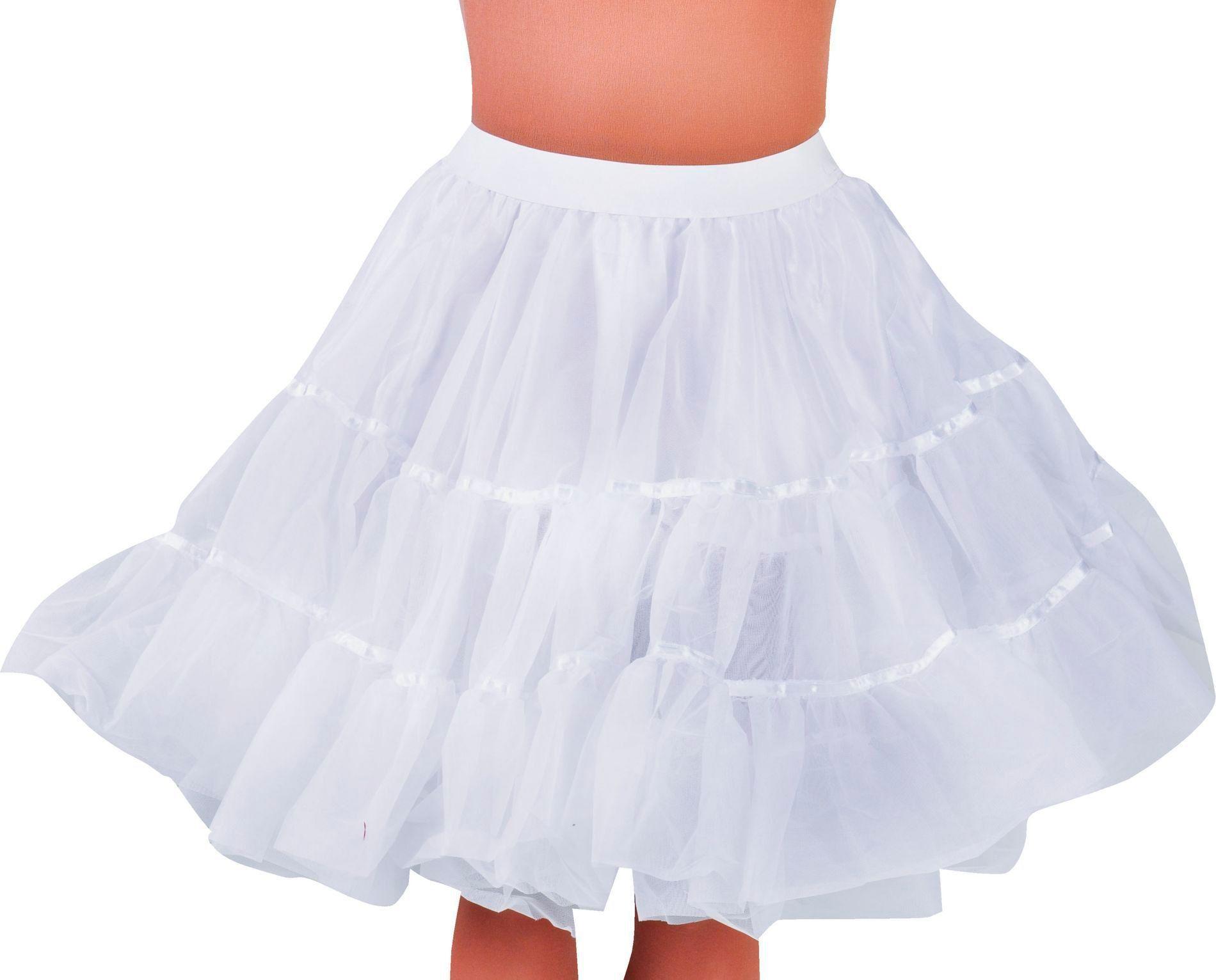 Witte petticoat vrouwen middel lang