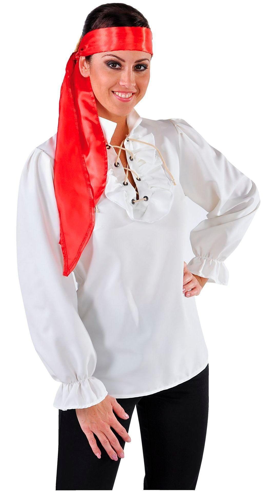 Witte piraten blouse dames