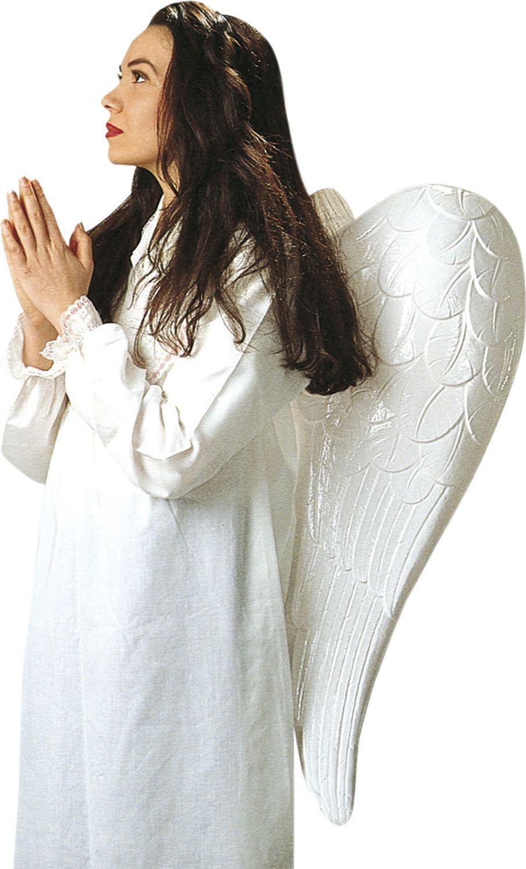 Witte plastic engel vleugels