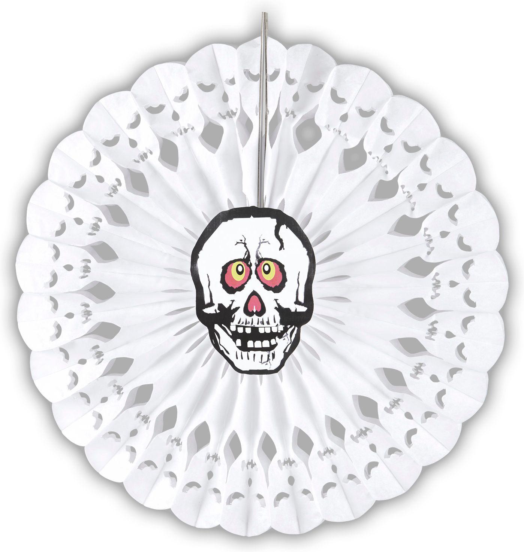 Witte schedel waaier