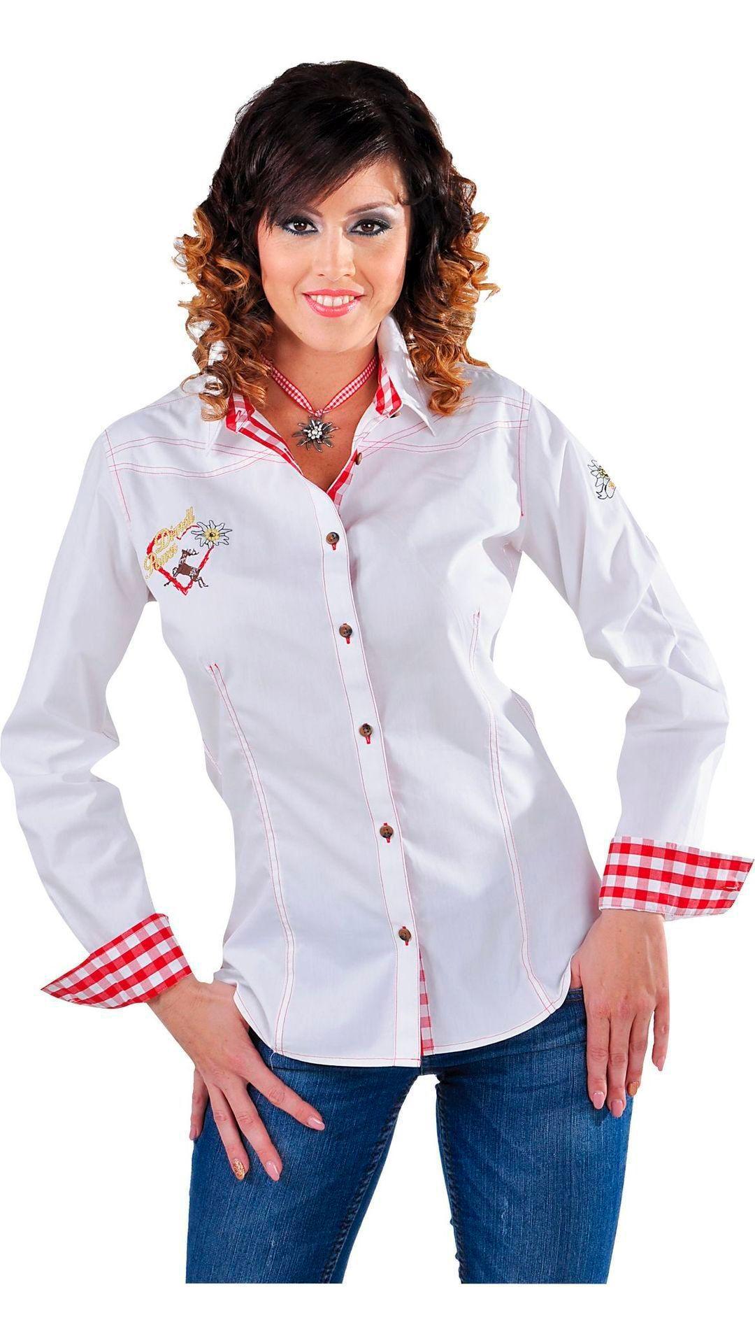 Witte tiroler blouse dames