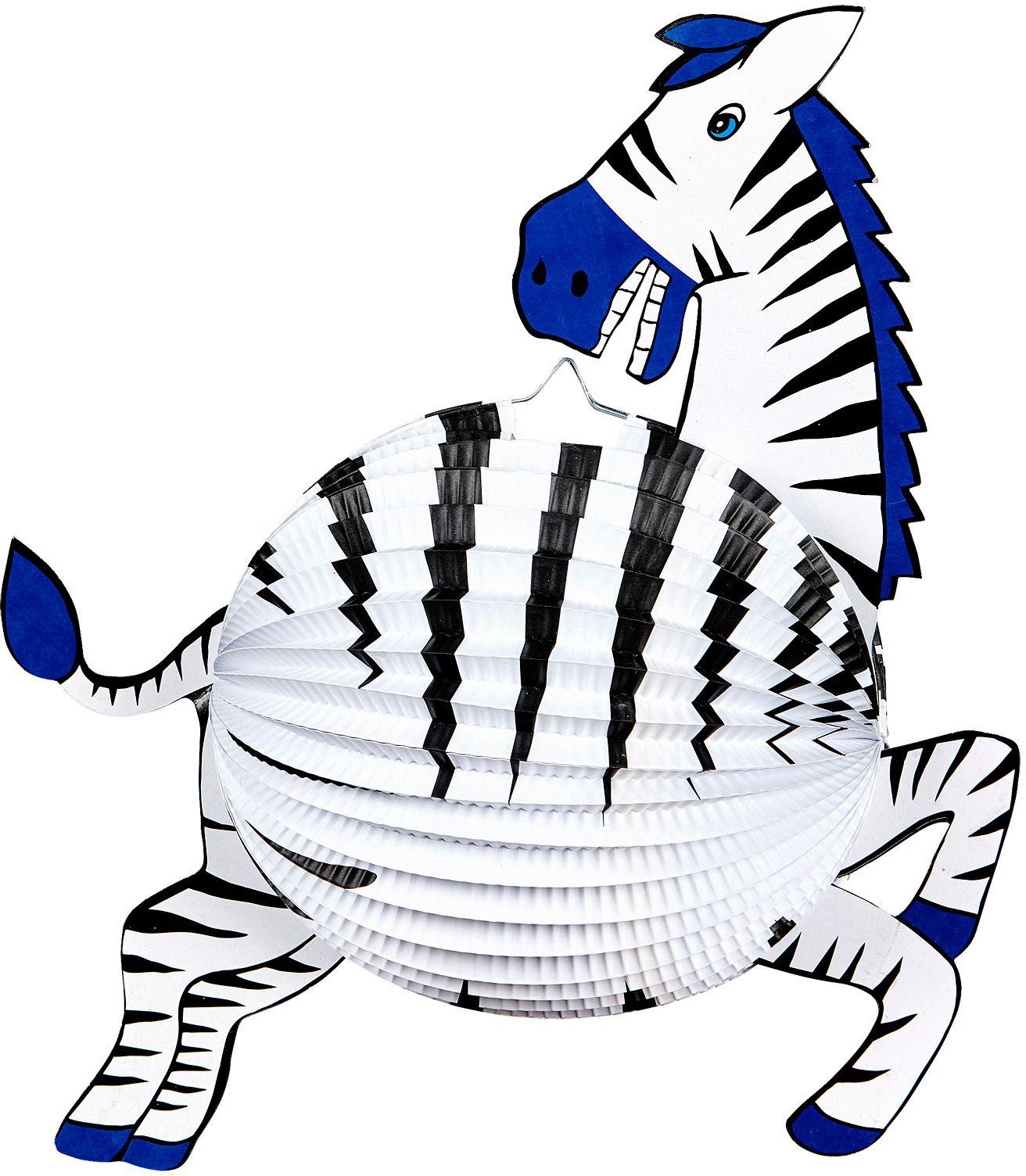 Witte zebra lampion