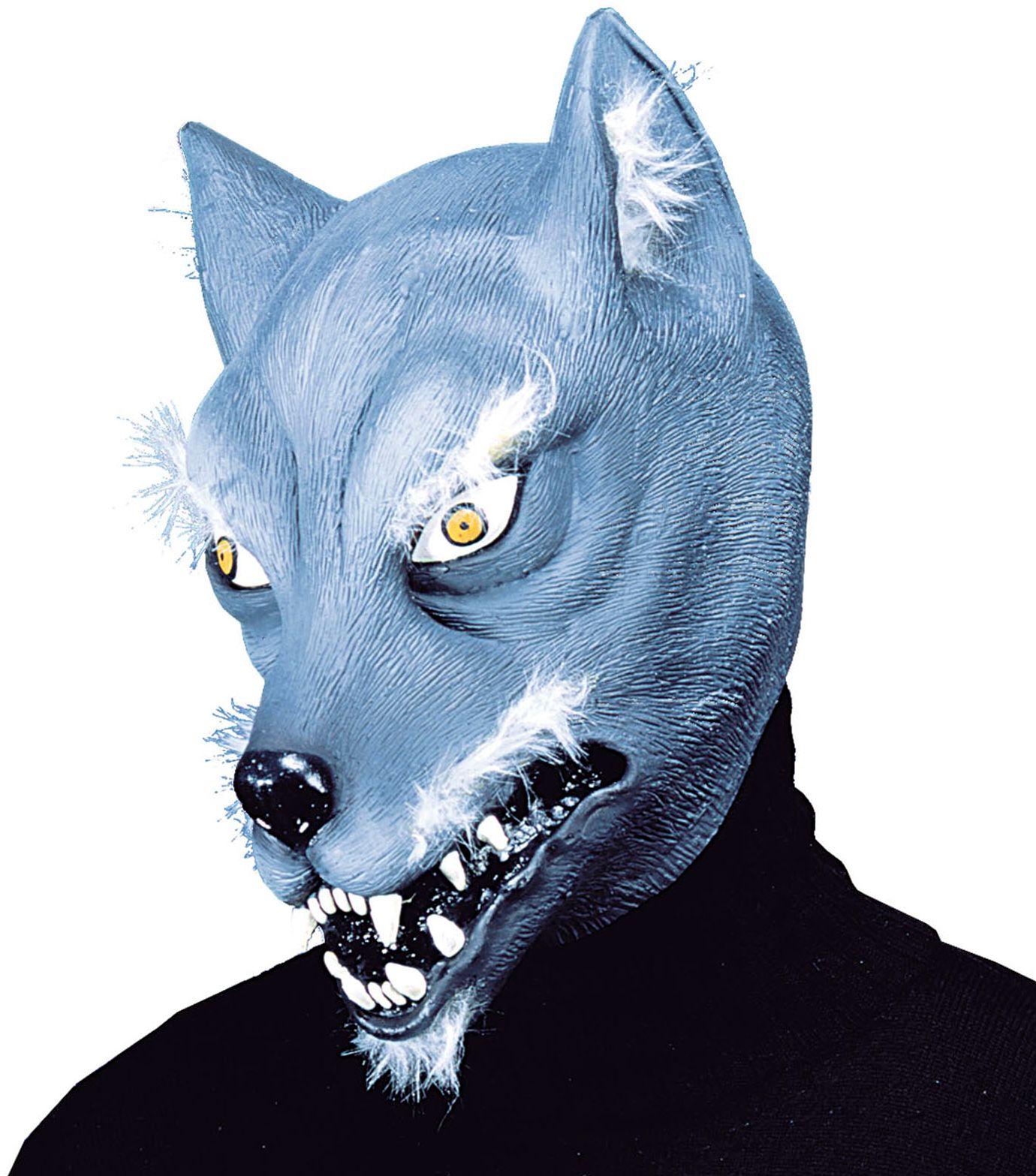 Wolven masker blauw