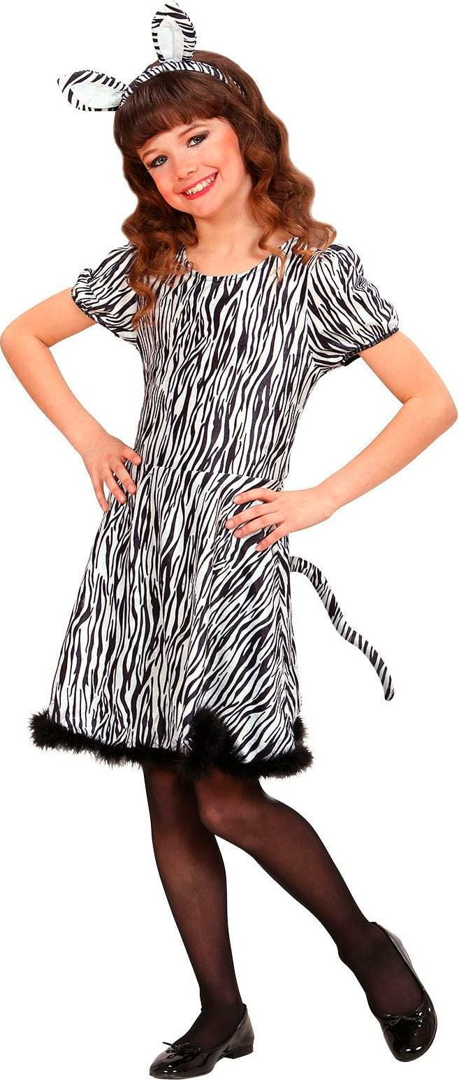 Zebra jurk kind