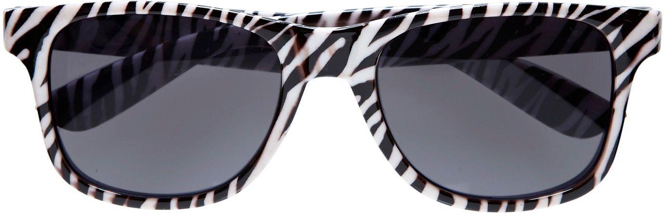 Zebra print bril